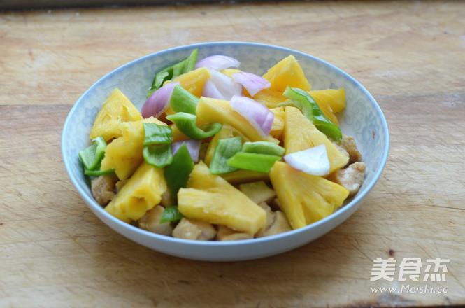 菠萝鸡丁的家常做法
