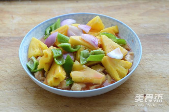 菠萝鸡丁怎么吃