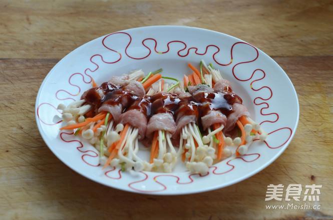 酱香肥牛金针卷怎么吃