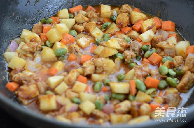 咖喱鸡肉焖饭怎么炒