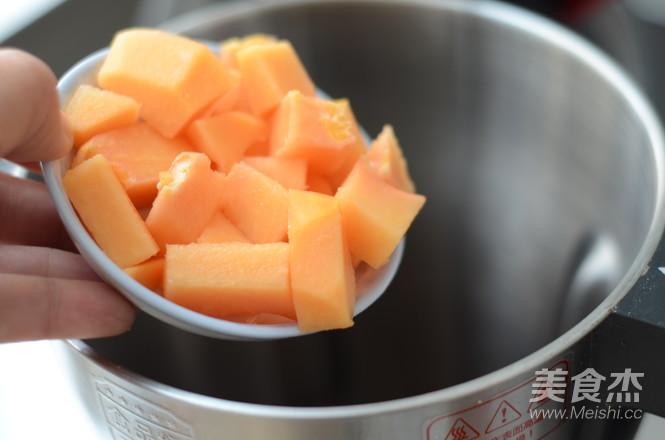 薏米木瓜花粉绿豆浆的步骤