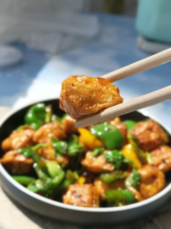 香辣石屏小豆腐成品图