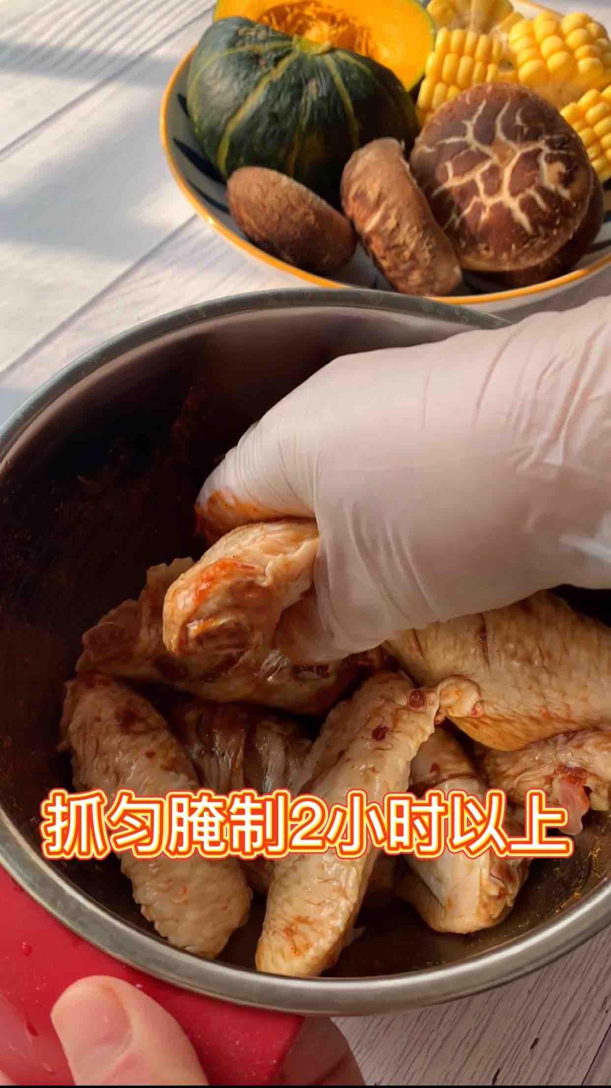 巨好吃香辣烤鸡翅,超简单的步骤