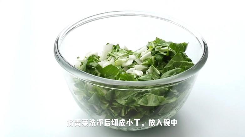 腌菜花炝毛豆米的做法图解