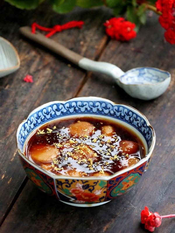 汤色酱红香甜润滑的桂花糖芋苗怎么煮