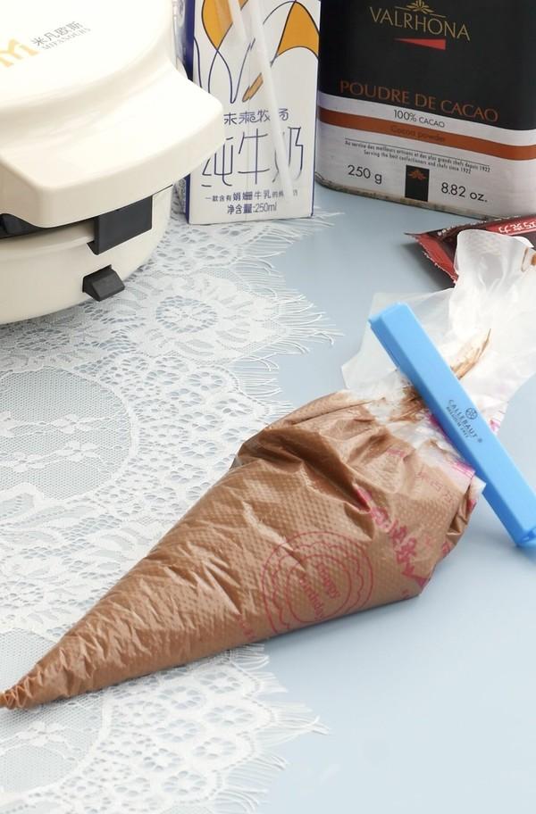 能拉丝会爆浆的巧克力麻薯华夫饼怎样做