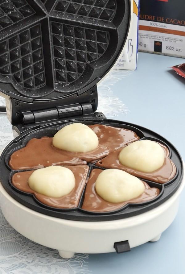 能拉丝会爆浆的巧克力麻薯华夫饼怎样煮