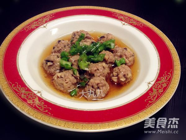 清蒸干香菇牛肉丸怎么吃