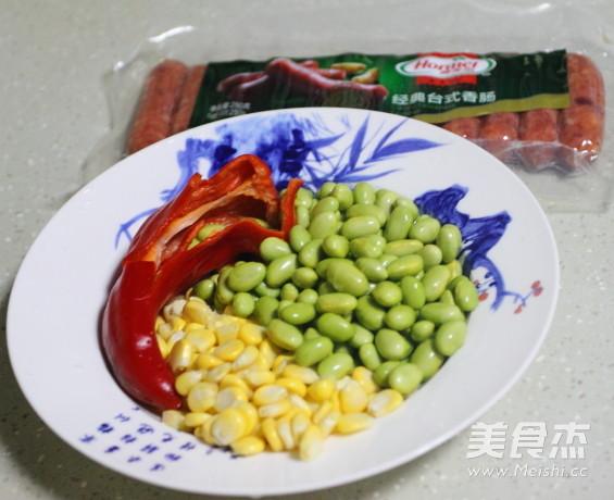 五彩缤纷香肠炒青豆的做法大全