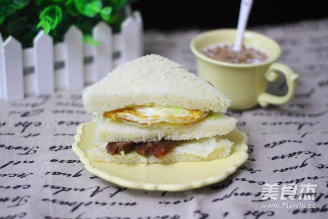 一键式全麦吐司+三明治怎么煸