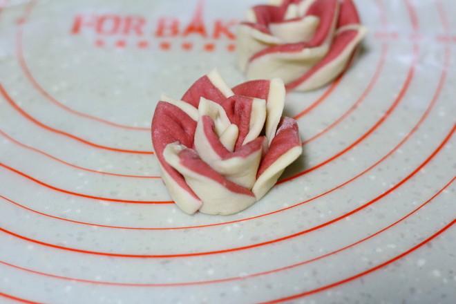玫瑰花馒头的步骤
