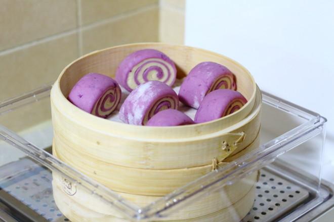 紫薯双色馒头怎样煸