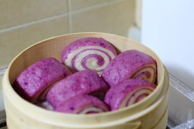紫薯双色馒头的制作