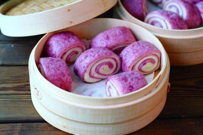 紫薯双色馒头成品图