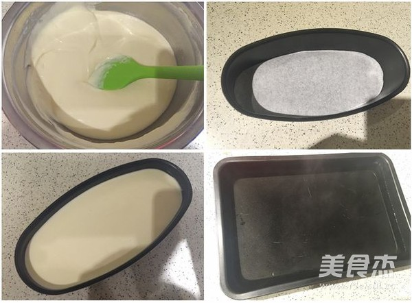 轻乳酪蛋糕(椭圆模)的家常做法