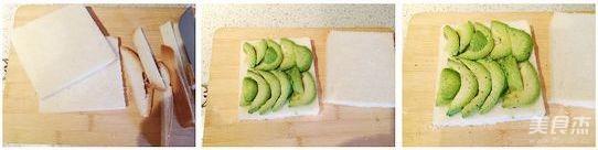 牛油果鸡蛋三明治的做法图解