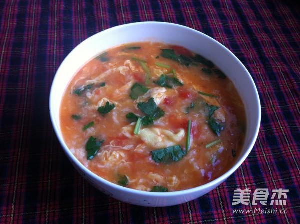西红柿鸡蛋疙瘩汤成品图