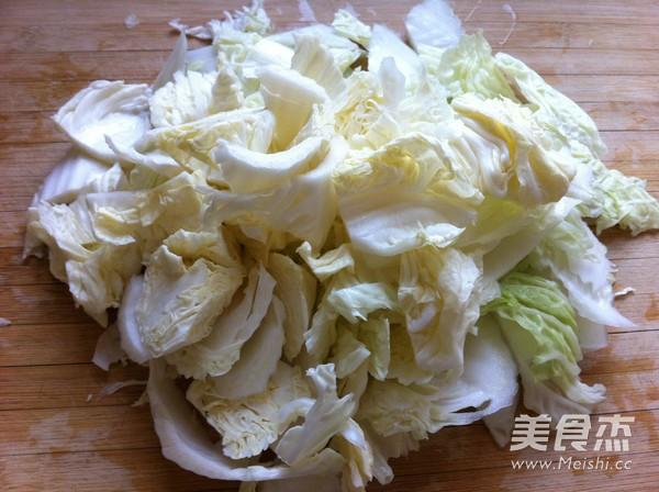 白菜豆腐炒肉的家常做法