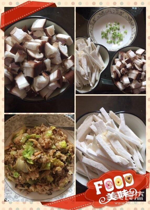 香菇炒饭成品图