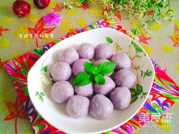 紫甘蓝黑芝麻汤圆怎么煸