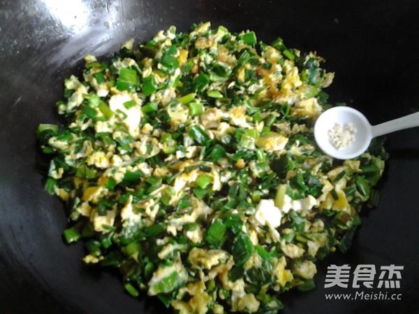 蒜叶炒鸡蛋怎么煮
