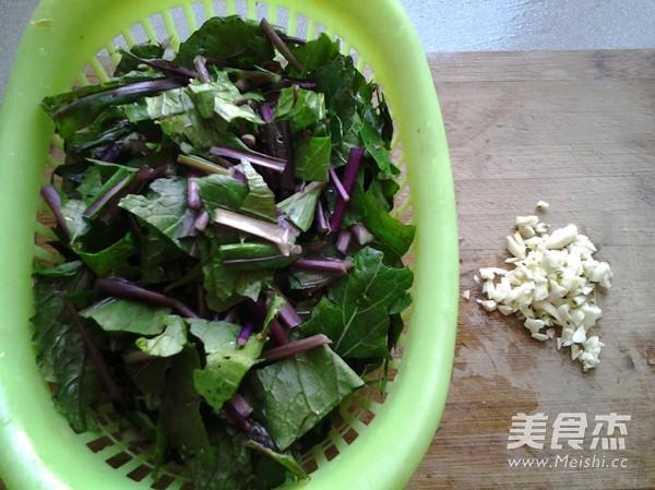 蒜蓉红菜苔的家常做法