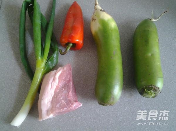 萝卜炒肉的做法大全