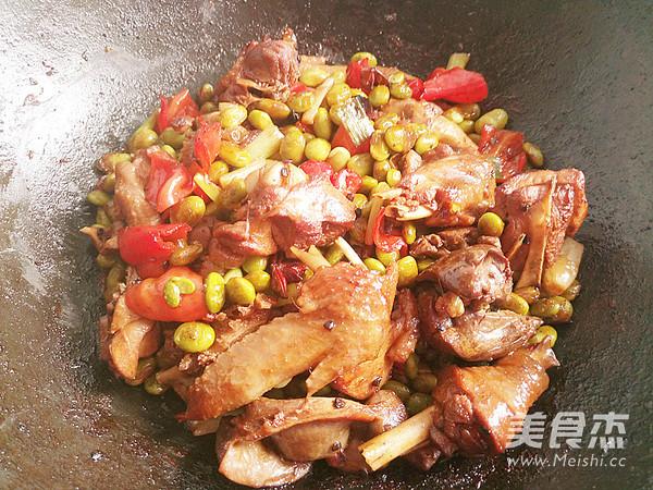 鸡肉烧豆子怎么煮