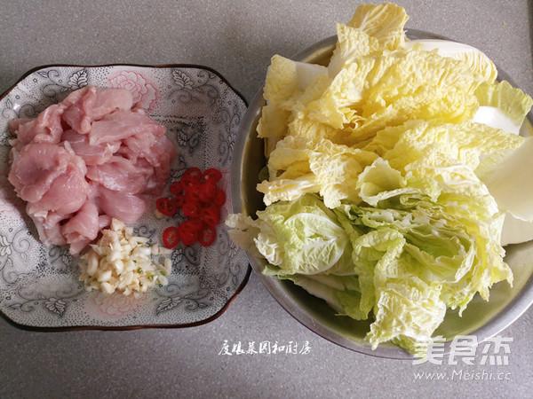 大白菜炒肉的步骤