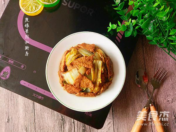 大白菜炒肉成品图