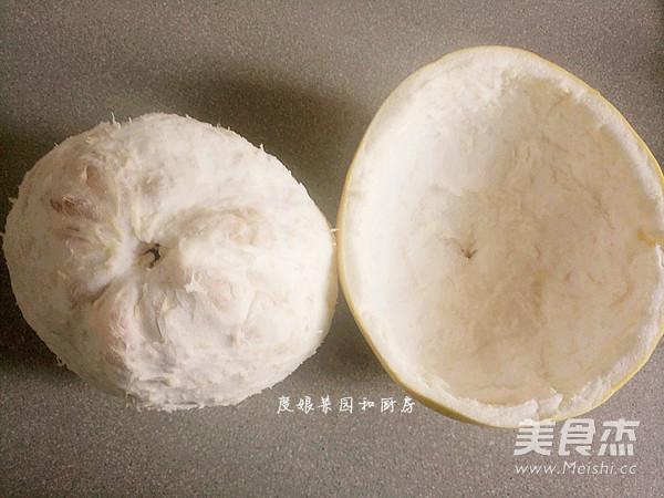 巧剥柚子皮的简单做法