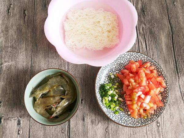 茄汁大虾米粉的简单做法