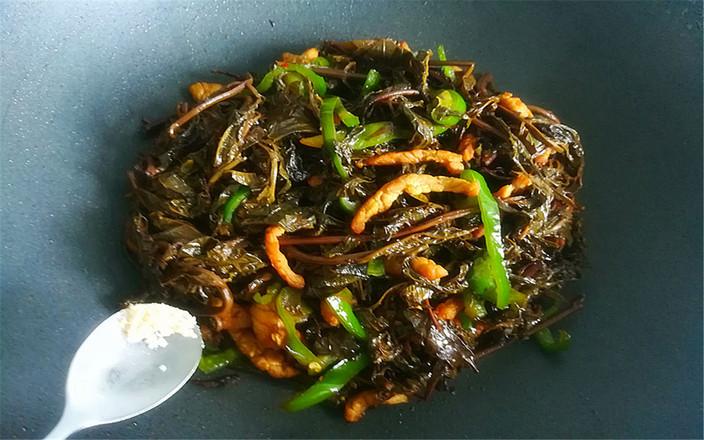 咸香椿炒肉丝怎么炒