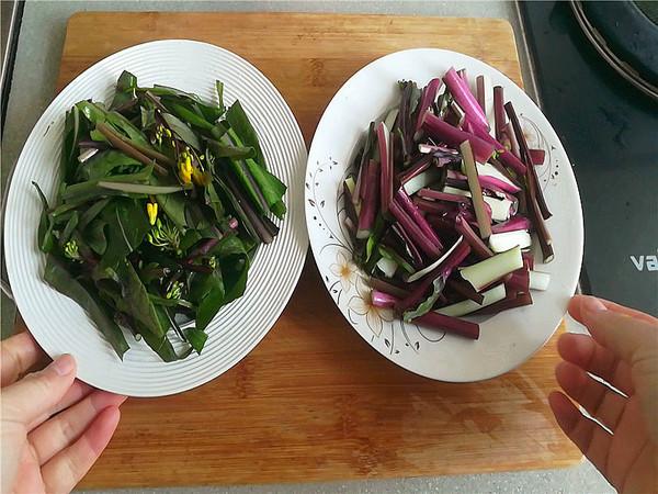 红菜苔炒馓子的做法大全
