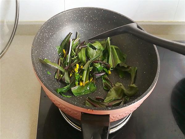 红菜苔炒馓子的做法图解