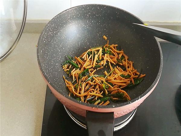 红菜苔炒馓子怎么吃