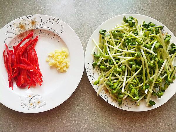 青豆芽炒辣椒的做法图解