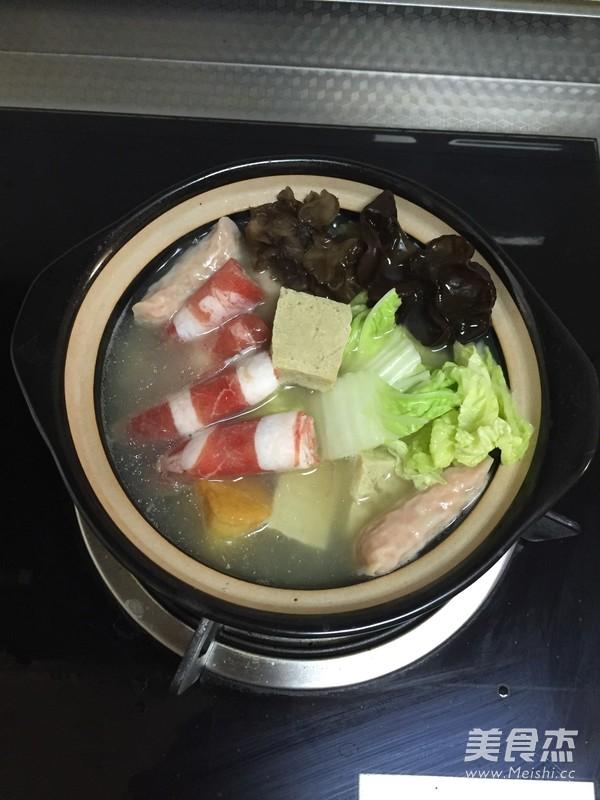 白菜粉丝小砂锅怎么吃