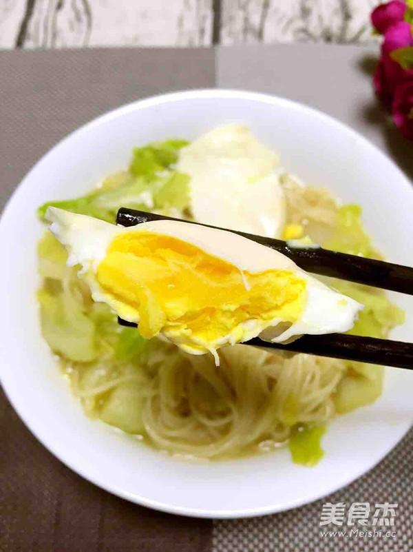 白菜鸡蛋汤面成品图