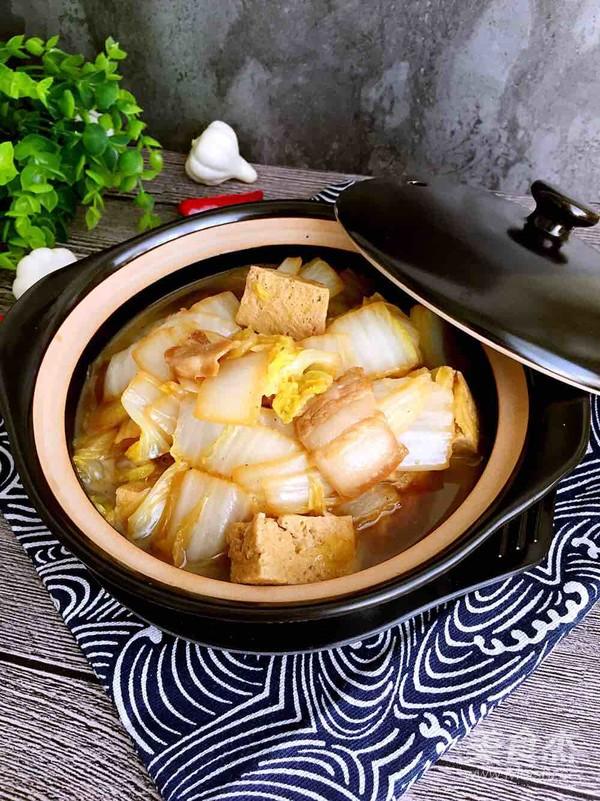 白菜炖冻豆腐怎么煸