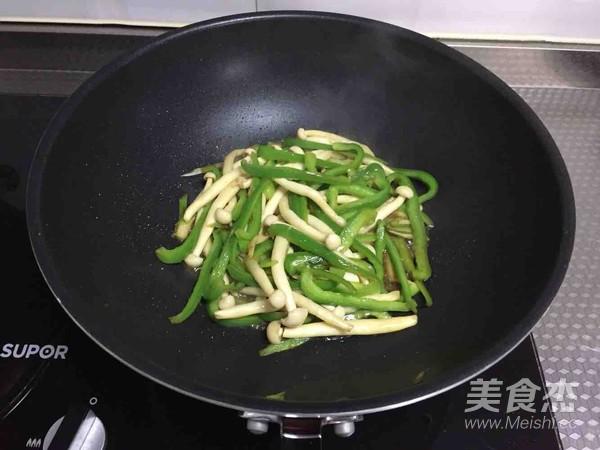 青椒海鲜菇怎么炒