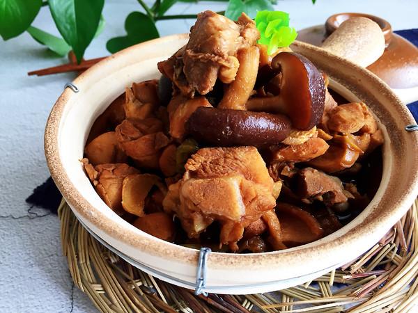香菇鸡块怎样煸