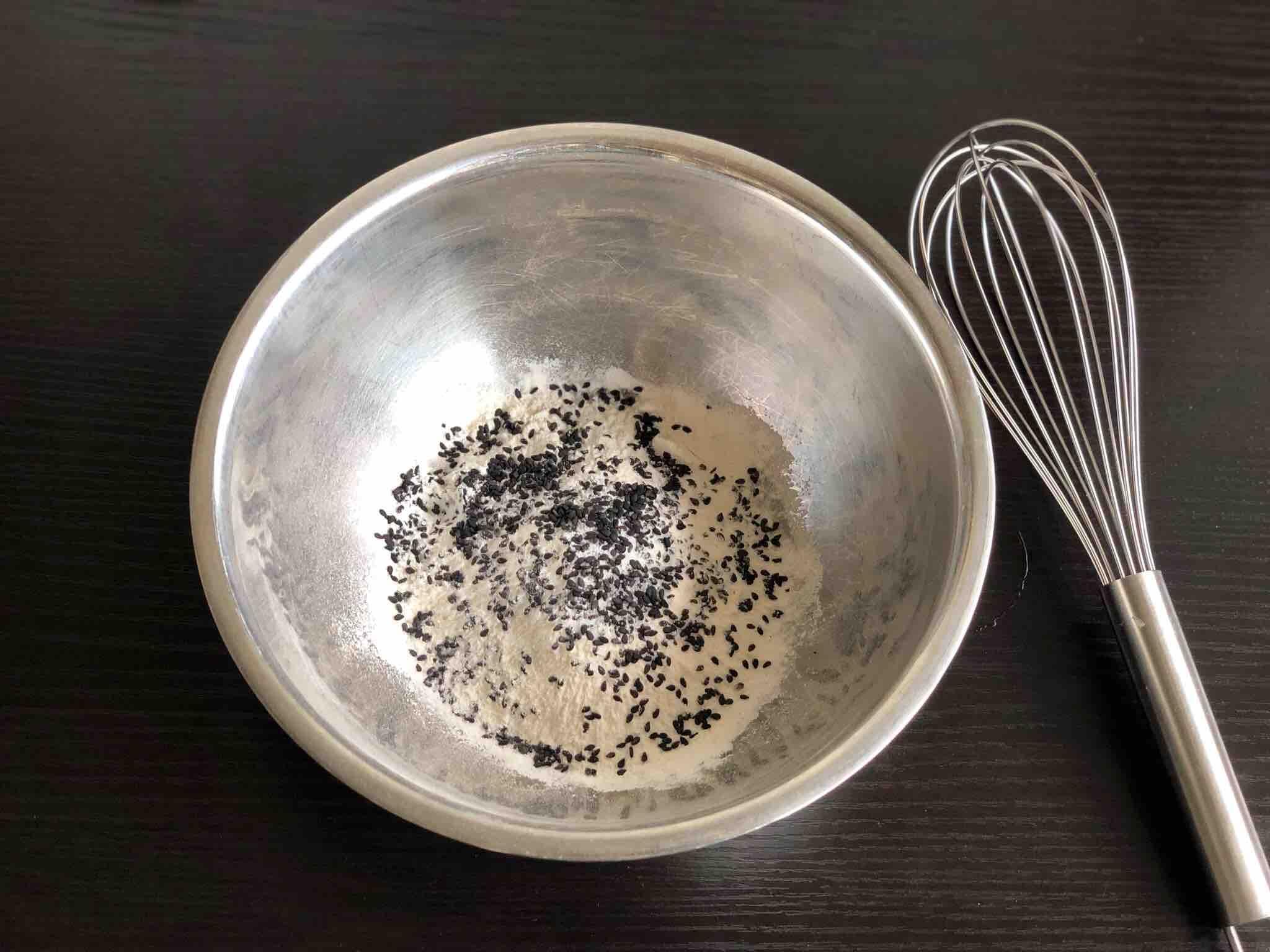黑芝麻蛋饼的做法图解