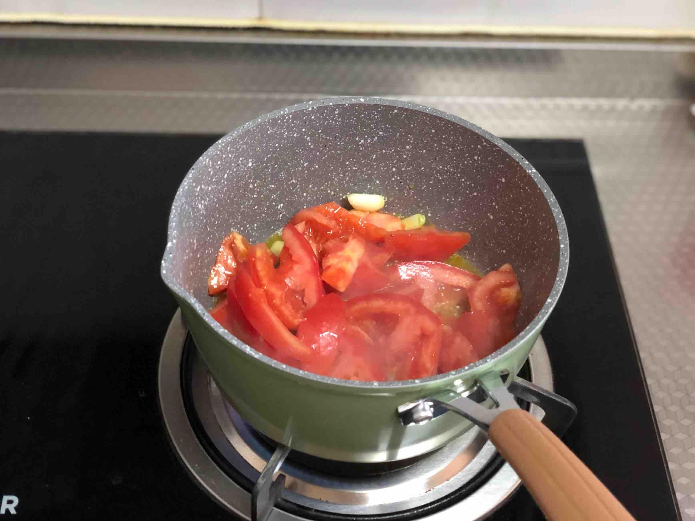 番茄鸡蛋面的步骤