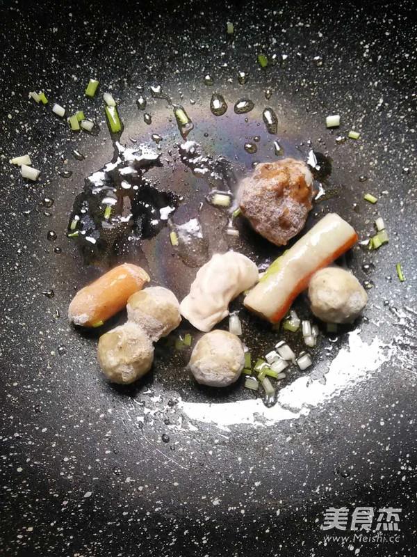 火锅丸青菜汤的家常做法