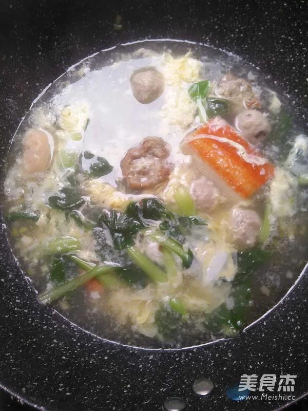 火锅丸青菜汤怎么做