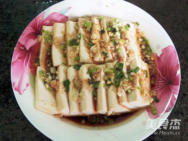 白玉豆腐成品图