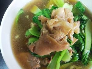 猪脚青菜汤的简单做法
