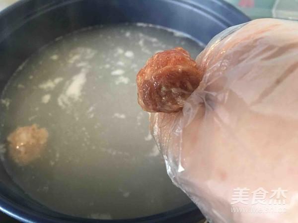 砂锅冬瓜丸子汤的步骤