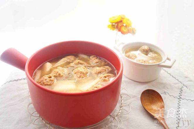 砂锅冬瓜丸子汤成品图